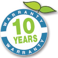 10 years regressive warranty